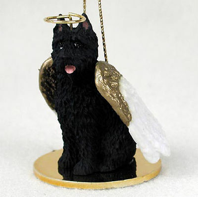 Bouvier Ornament Angel Figurine Hand Painted