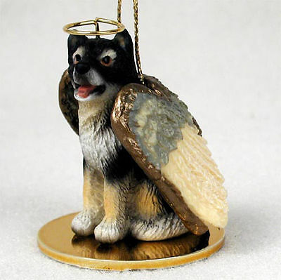 Malamute Dog Figurine Angel Statue Hand Painted