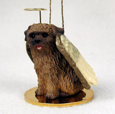 Norfolk Terrier Ornament Angel Figurine Hand Painted