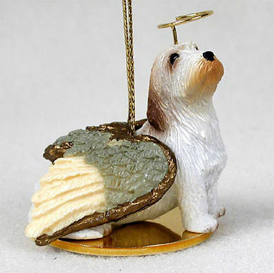 Petit Basset Griffon Vendeen Dog Figurine Angel Statue Hand Painted
