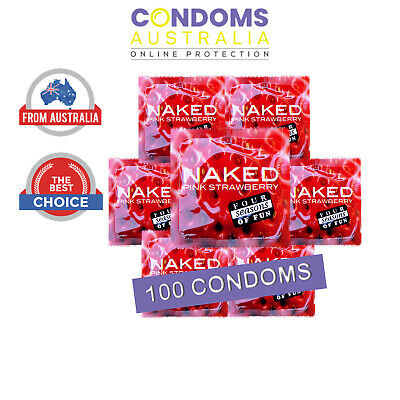 Four Seasons Naked Strawberry Flavour (100 Condoms)