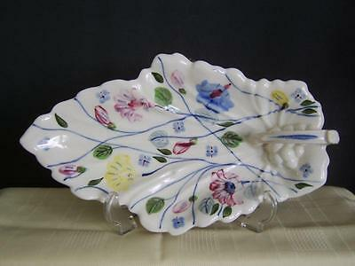 Blue Ridge Southern Pottery Porcelain Maple Leaf Tray