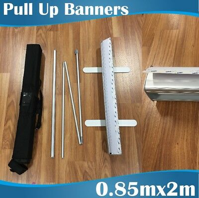 Quality Silver budget pull up banner retractable banner roll up banner 85x200CM