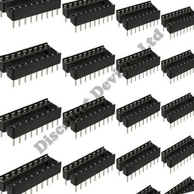 10x 18 Pin RoHS PCB IC Socket DIL/DIP 18 0.3""
