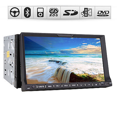 "2 DIN HD 3D TV 7""TOUCH SCREEN IN CAR DVD GPS Navigator Bluetooth SD USB iPod Aux"