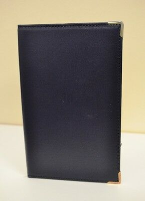 Leather Golf Scorecard Holder with Pencil- Black Leather
