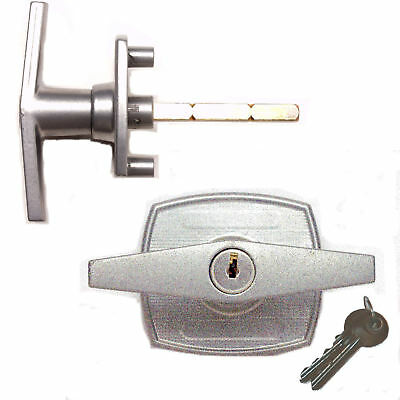 NEW 2-Hole BIRTLEY Lock T-Handle BACK FIXED garage door spares parts