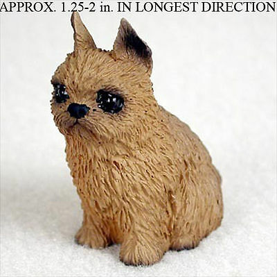 Brussels Griffon Mini Resin Dog Figurine Statue Hand Painted