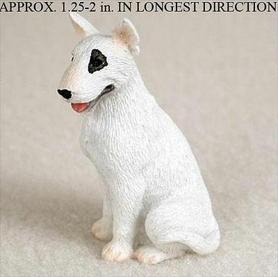 Bull Terrier Mini Resin Dog Figurine