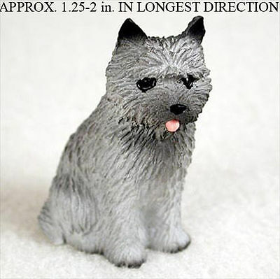 Cairn Terrier Mini Resin Dog Figurine Gray