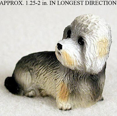 Dandie Dinmont Mini Resin Dog Figurine Statue Hand Painted