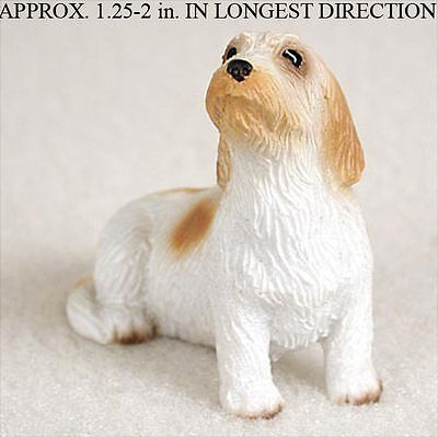 Petit Basset Griffon Vendeen Mini Resin Dog Figurine Statue Hand Painted