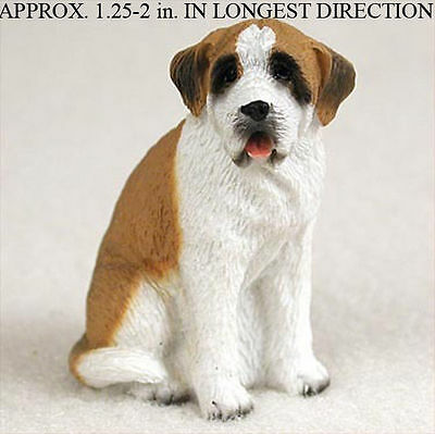 Saint Bernard Mini Resin Dog Figurine Smooth