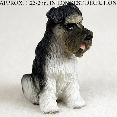 Schnauzer Mini Resin Dog Figurine Gray Uncropped