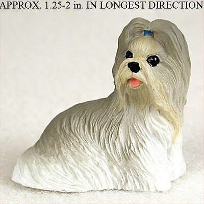 Shih Tzu Mini Resin Dog Figurine Statue Hand Painted Mixed
