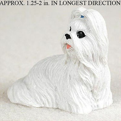 Shih Tzu Mini Resin Dog Figurine White