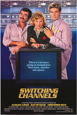 Switching Channels Movie Poster 1988 Christopher Reeve