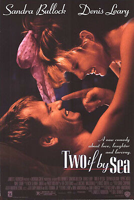 TWO IF BY SEA MOVIE POSTER 27x40 ORIG.!! SANDRA BULLOCK