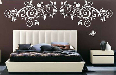 Floral Tree Branch Butterfly Flower Removable Vinyl Wall Decal Sticker Decor