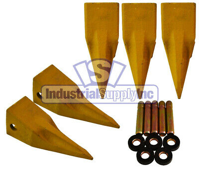 5-pk 1U3352 Cat Single Tiger Style Bucket Digging Teeth