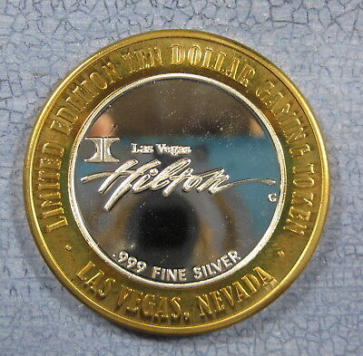 Hilton Baron's Club Silver $10 Gaming Token CA-39