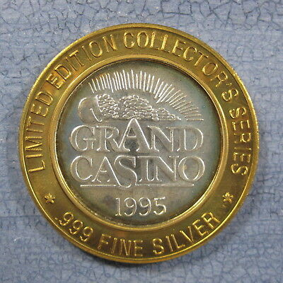 1995 Grand Casino Silver $10 GamingToken CA-40