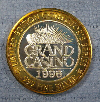 1996 Grand Casino Silver $10 GamingToken CA-41