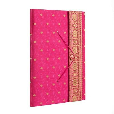 Fair Trade Handmade Extra Large Sari Photo Album Scrapbook Cerise