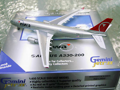 1:400 GeminiJets A330-300 Northwest Airlines N812NW