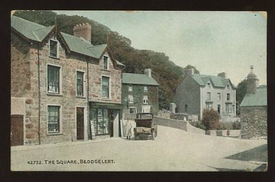 Wales Merioneth BEDDGELERT The Square early PPC