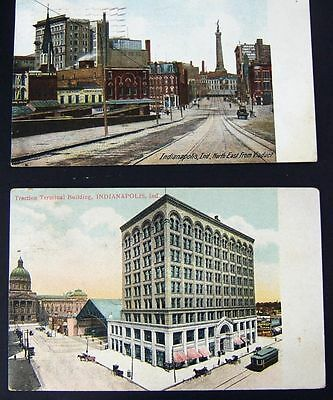 Two Vintage Indianapolis Postcards 1909 & 1911