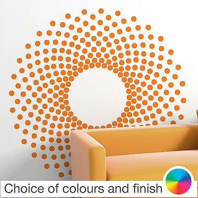 Retro Circle Pattern Wall Sticker Home Decor Bedroom Living Room Kitchen Decal