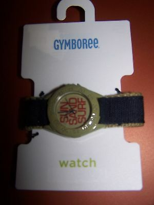 NWT GYMBOREE BAJA SURF SUN SAND SURF GREEN BLACK WATCH *Needs battery replaced*