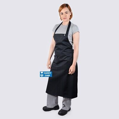 Chef Black Bib Aprons with Pocket .., see handychef for chef jackets,pant