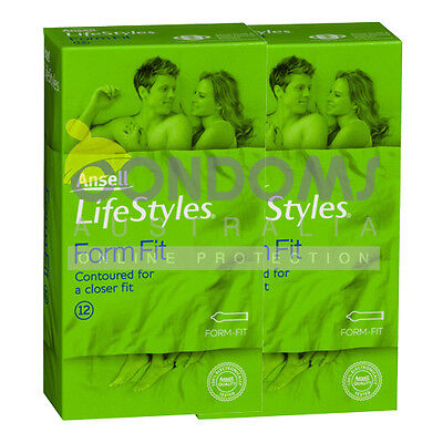 Ansell Lifestyles Form Fit Condoms (24 condoms) TWIN
