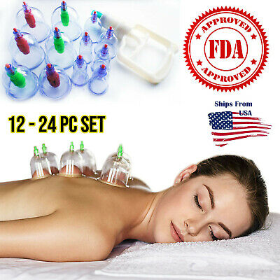 12 or 24 Chinese Cupping Set Magnet Massage Therapy USA