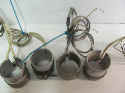 Lot Of 4 1 3/4'' Pipe Clamp Heaters 200 Watt 240 Volts
