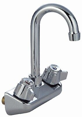 "Commercial Kitchen Faucet 4"" Center Wall W/ Gooseneck  K15-4000"