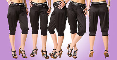 NEW Trendy cropped trousers with pockets+BELT FREE/F79