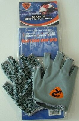 Rugbytech Gripper Gloves Grey Size Large *new*