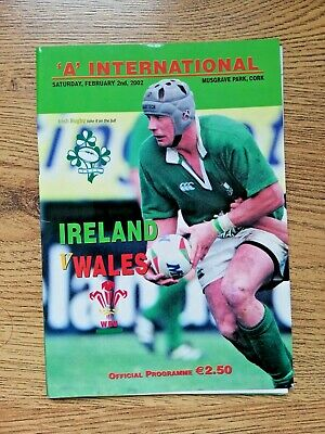 Ireland A v Wales A 2002 Rugby Programme