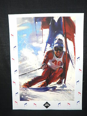 Stephen Palmer USA Winter Olympics  Skiing Poster