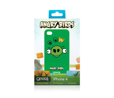 Original Gear4 Angry Birds Hard Shell Case iPhone 4 4S Green Pig Genuine OEM