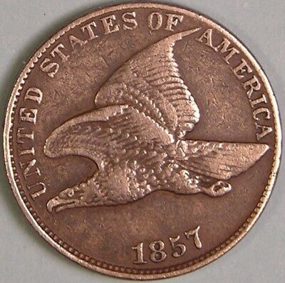 1857  Flying Eagle Cent,    Fe 106