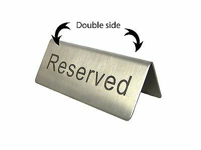 2 pcs Stainless Steel Reserved Sign Table
