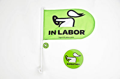 Sign of Labor™ Car Flags + FREE Decal