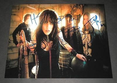 "Halestorm Band Pp Signed 10""x8"" Photo Repro Lzzy Hale"
