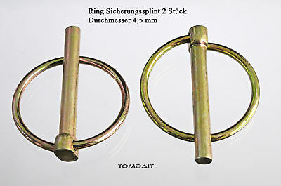 Klappsplinte Ringsplint 4,5mm Ring-Splint Klappstecker