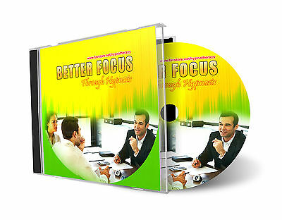 Better Focus Through Hypnosis Hypnotherapy AUDIO CD
