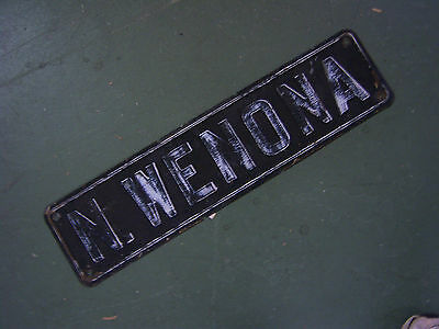 Vintage N Wenona Street Sign ~ Bay City, Michigan